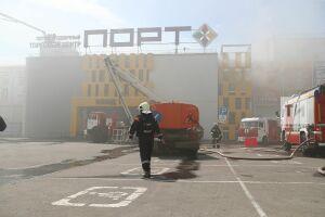 Экологи не выявили превышения уровня вредных веществ в воздухе из-за пожара в казанском ТЦ «Порт»