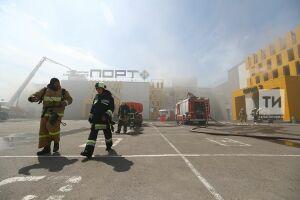Торговый центр «Порт» в Казани тушат по четвертому номеру вызова