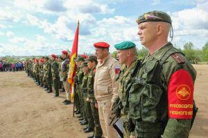 В Альметьевске прошла военизированная эстафета «Тропа мужества»