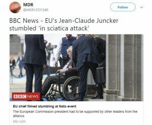 Глава Еврокомиссии покинул саммит НАТО в инвалидном кресле