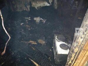 В Апастовском районе РТ пенсионерка погибла на пожаре в двухэтажном доме