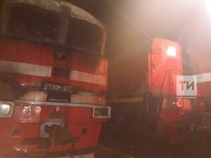 В Ютазинском районе РТ загорелся груженный сталью тепловоз
