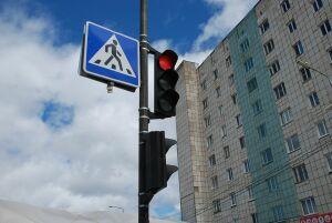На перекрестке Кремлевской и Астрономической в Казани появился новый светофор