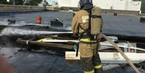В Челнах в торговом центре «Алтын Ай» случился пожар
