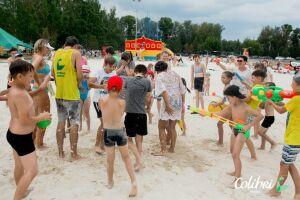 На городском пляже Альметьевска состоялись водные сражения