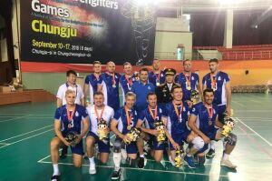 Волейболисты «Динамо-Татарстан» стали чемпионами Всемирных игр пожарных
