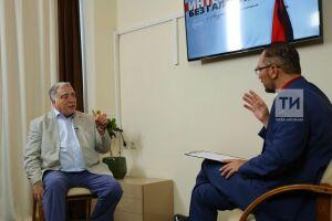 Яков Геллер дал интервью гендиректору «Татмедиа» Андрею Кузьмину для ИА «Татар-информ»