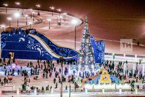 В ледовом городке у Центра семьи «Казан» со дня открытия побывало около 200 тыс. человек