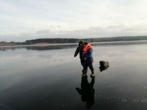 В Татарстане спасли рыбака, которого на льдине уносило в сторону Ульяновска