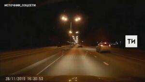 Очевидцы сняли на видео, как кабаны перебегают перед авто трассу в Татарстане