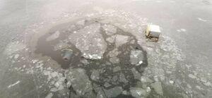 У Кировской дамбы в Казани водолазы ищут тело провалившегося под лед рыбака