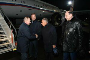 Путин прибыл в Набережные Челны для участия в торжествах по случаю 50-летия КАМАЗа