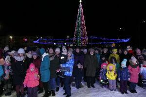 В городе Лаишево засияла огнями главная новогодняя елка