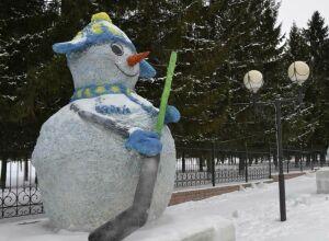 На фестивале снеговиков в парке Урицкого выберут самого креативного скульптора