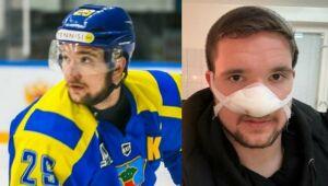 Во время матча ВХЛ хоккеисту «Челнов» срезало кончик носа