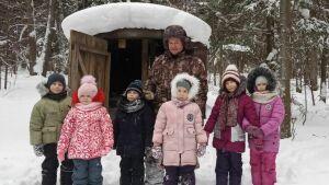 Балтасинские школьники и педагоги вышли на маршрут зимней экологической тропы