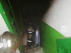 Девять человек спасены на пожаре в Альметьевске
