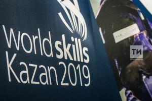 Флаг WorldSkills Kazan 2019: Избуддийских храмов Бурятии ввечерний Грозный