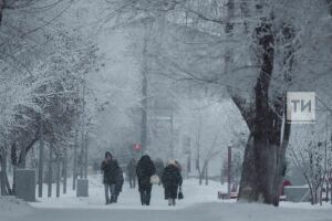 В Татарстане из-за снегопада объявили штормовое предупреждение