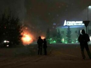 В загоревшемся пункте приема металлолома в Казани погиб мужчина