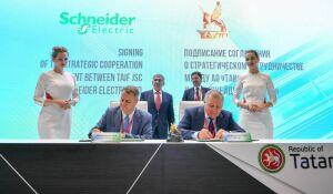 НаПМЭФ-2019 ТАИФ иSchneider Electric подписали соглашение остратегическом сотрудничестве