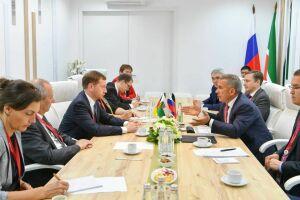 Минниханов обсудил с Премьер-министром Саксонии вопросы развития цифровых производств