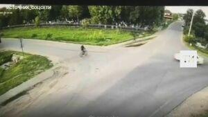 На видео попало, как в Пестрецах легковушка насмерть сбила школьника-велосипедиста