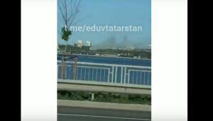 Очевидцы сняли на видео пожар возле «Миллениума» в Казани