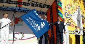 На флаг WorldSkills нанесли нашивку Верхнеуслонского района