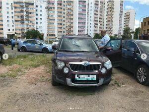 В Казани пьяный водитель «Шкоды» протаранил несколько авто и пытался скрыться