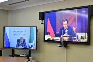 Президент Татарстана принял участие в совещании у Медведева по нацпроектам