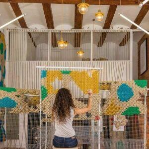 Испанская художница Ракель Родриго вышьет картину на сетке-рабице для альметьевского двора