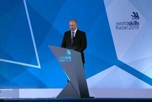 Путин: WorldSkills вКазани стал самым крупным ипредставительным вистории движения