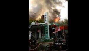 Пожарные спасли от огня заправку «Татнефти» в Москве