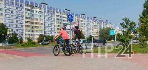 В Нижнекамске на дорогах оборудовали велопереезды