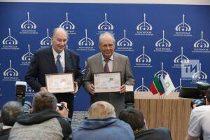 Ага Хан и Минтимер Шаймиев в Болгаре выпустили марку в честь архитектурной премии