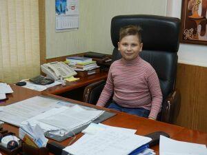 Участник детского конкурса «Я б в рабочие пошел…» побывал в кресле главврача нижнекамской больницы