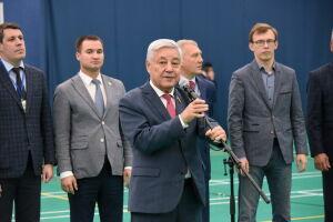 Фарид Мухаметшин открыл соревнования на Кубок президента Федерации волейбола РТ в Богатых Сабах