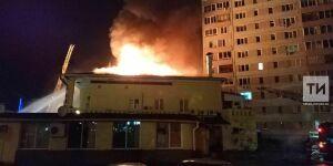 Из домов вблизи горящего ресторана «Арарат» в Челнах эвакуировали порядка 100 человек