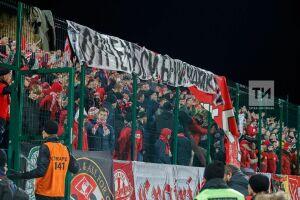 МВД РТ опровергло, что болельщиков «Спартака» во время матча с «КАМАЗом» закрывали в «клетку»