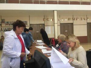 Первым проголосовавшим в Менделеевске традиционно вручили сладкие подарки