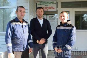 Комбайнеры Черемшанского района сразу после голосования вышли на уборку хлеба