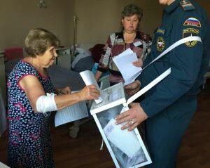 В Зеленодольской ЦРБ 18 ветеранов отдали свой голос на выборах в Госсовет РТ