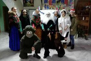 В нурлатском селе Мамыково ряженые устроили Рождественскую Коляду
