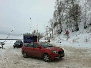 Ледовая переправа через Каму в Елабужском районе снова открыта