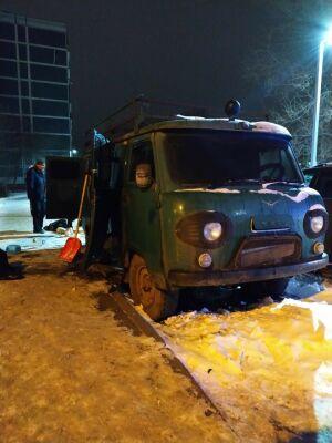 В Казани из загоревшегося фургона спасли ночевавшего в нем мужчину