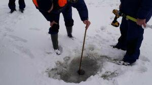В местах крещенских купаний в Казани инспекторы ГИМС измерили толщину льда