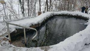 В Камских Полянах не будут вырубать иордань на Каме из-за аномально теплой погоды