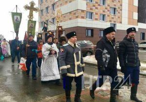 В Нижнекамске верующие совершили крестный ход в честь Крещения