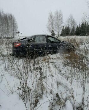 Легковушка вылетела с трассы в кювет в Татарстане, водитель погиб на месте